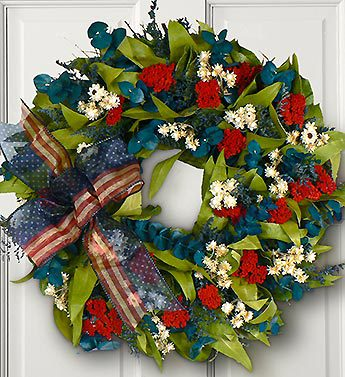 Red, White and Beautiful Wreath