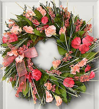 Think Pink Spring Wreath