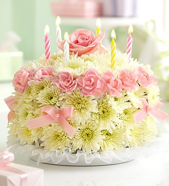 Birthday Flower Cake� - Pastel