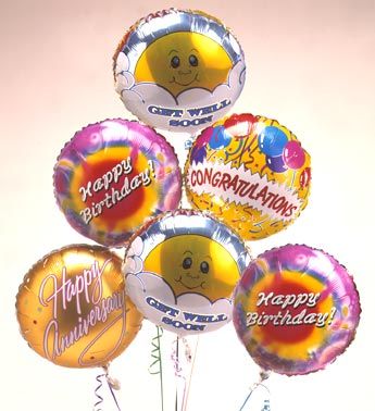 /half dozen mylar balloons