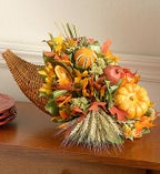 Fall Harvest Dried Cornucopia