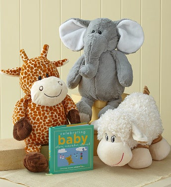 Cuddly Giraffe Plush with Book