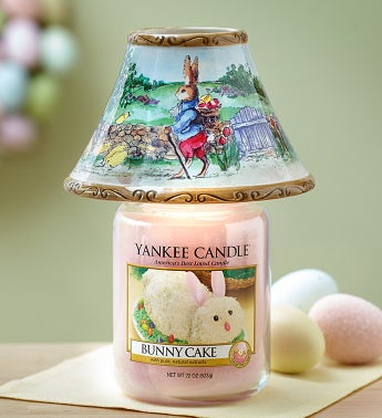 Bunny Cake Candle with Easter Bunny Shade