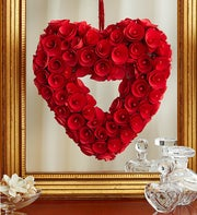 Romantic Red Heart Wreath