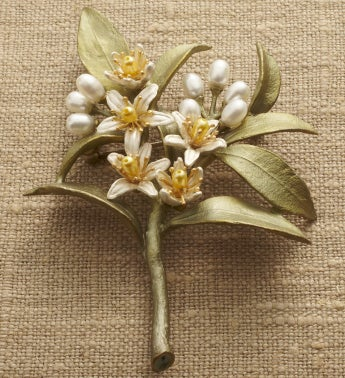 Orange Blossom Spray Pin