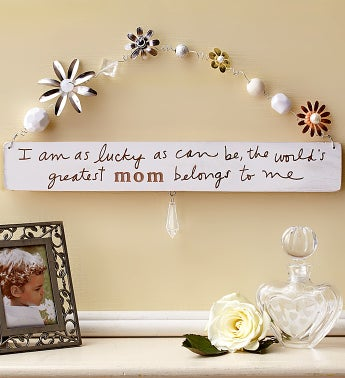 World?s Greatest Mom Artisan Plaque
