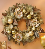 Vintage Holiday Faux Wreath - 24?