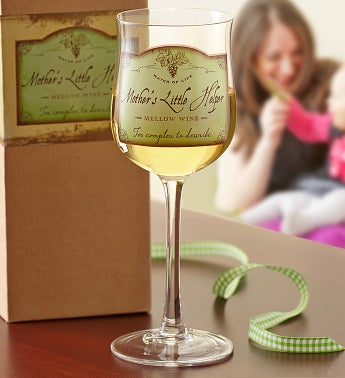 Mother's Little Helper Wine Glass