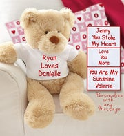 Personalized Love Bear with Customized T-shirt