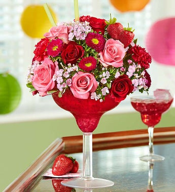 Strawberry Floral Margarita�