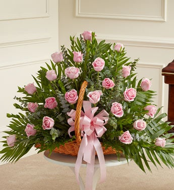 Sincerest Sympathies Fireside Basket - Pink