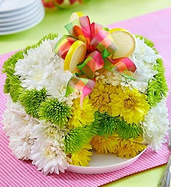 Fresh Flower Cake?  - Lemon