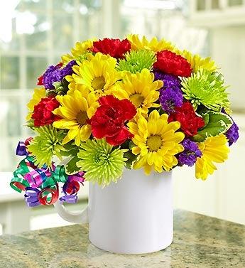 Flowers + Mugs