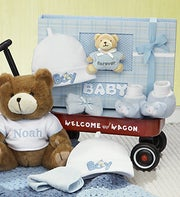 Hello Baby Boy Welcome Wagon, Bear & Baby Book