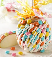 SpringCaramel Apple with Chocolate Candies
