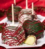 Deck the Halls Holiday Caramel Apples 4ct
