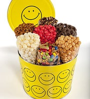 The Popcorn Factory� Smiley Face 7-Way Tin 2gal