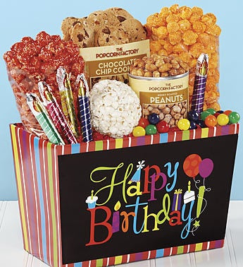 The Popcorn Factory� Birthday Wishes Basket