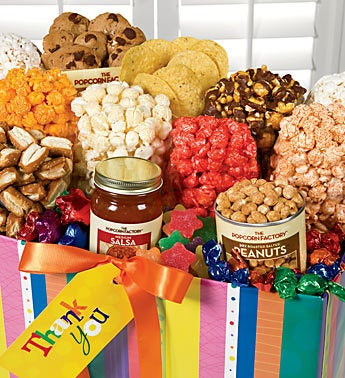 The Popcorn Factory� Bright Stripe Thank You Box