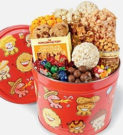 Popcorn Pals Snacks Tin 2 Gallon