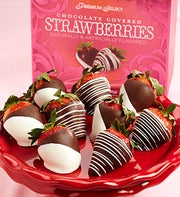 Fannie May Chocolate Dipped Strawberry 9 Ct