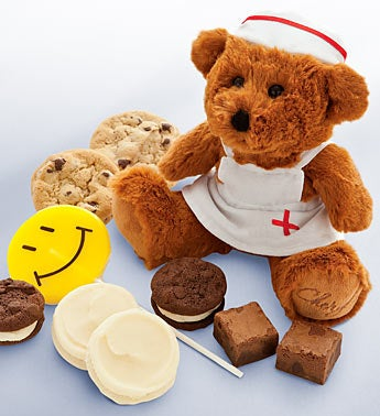 Cheryl?s Get Well Nurse Bear & Treats