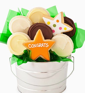 Cheryl?s Congratulations Cookie Flower Pot