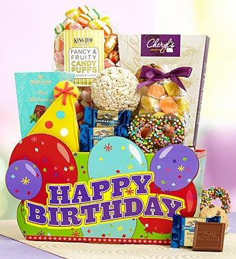 Wonderful Wishes Birthday Gift Basket