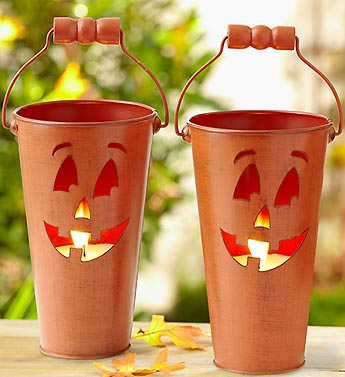 Set of Two Jack O' Lantern Candles