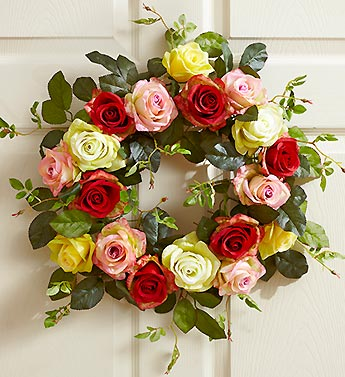 Assorted Rose Wreath