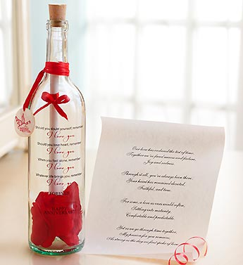 Personalized Message in a Bottle� Anniversary