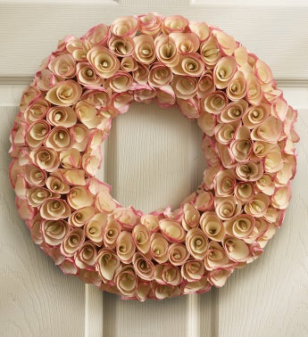 Pinkwood Rose Faux Wreath