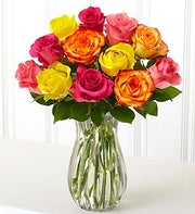 One Dozen Assorted Roses