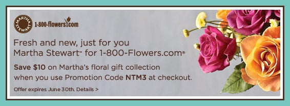 Save $10 on Martha's floral gift collection