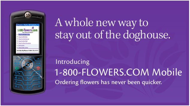 Introducing 1-800-FLOWERS.COM Mobile