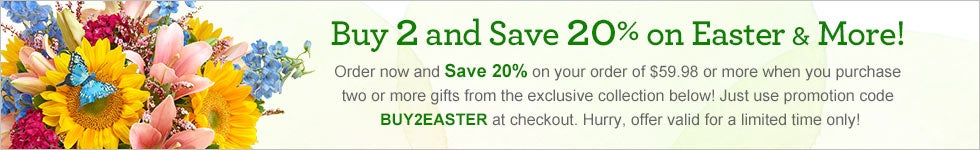 Buy 2 save 20% on Easter and More!